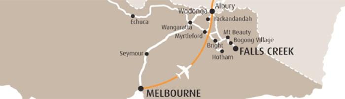 Falls Creek Location Map